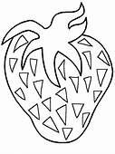 Strawberries Fruit Coloring Pages Page & Book For