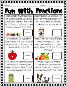 fraction word problems worksheets 2nd grade 11432 fraction for 2nd grade