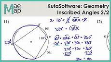 geometry worksheet inscribed angles 754 kutasoftware geometry inscribed angles part 2