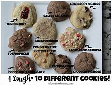 one dough recipe 10 different cookies mix and match