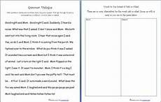 free grammar practice sheet quotation marks said asked words homeschool den