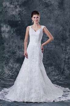 robe de mari 233 e dentelle col en v avec bretelle dos nu