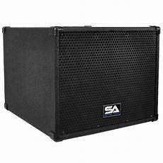 pa powered subwoofers powered compact portable pa system 4x5 column speaker 12 inch subwoofer and pole seismic audio