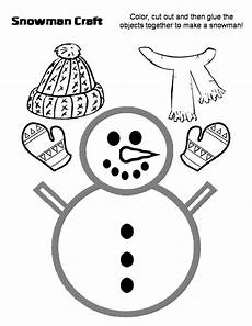 preschool crafts for snowman with hat and scarf craft