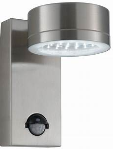 led outside wall light with pir modern led stainless steel outdoor pir wall light 9550ss