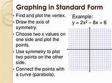 5 1 graphing quadratic functions