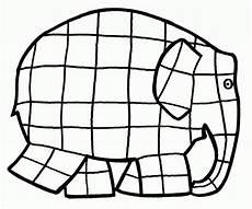 elmer para colorear elmer l elefante cartamodello di