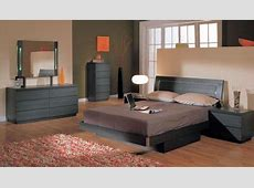 Ash Finish Modern 5Pc Bedroom Set w/Queen Size Storage Bed