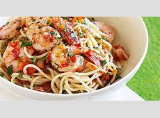 chili prawn and tomato spaghetti_image