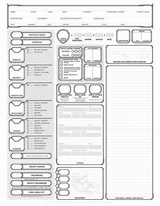 basic character sheet aimed at new players broken down a bit more than the basic one dnd