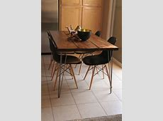 Organic Modern Rustic Dining Table with Hairpin legs on