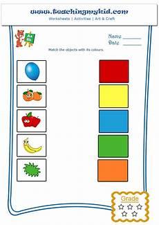 matching colors worksheet for kindergarten 12921 printable kindergarten worksheets match objects with colours 1 color worksheets kindergarten