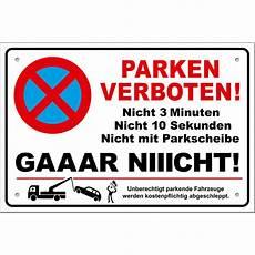 Schild Parken Verboten Lustig Parkverbotsschild Inkl