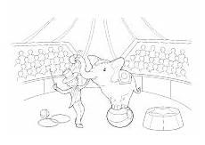 Ausmalbilder Ella Elefant Elefant Mit Domteur In Der Manege Ausmalbilder Kinder