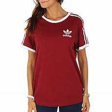shirt femme adidas shirt femme 3 stripes bp9507 bordeaux