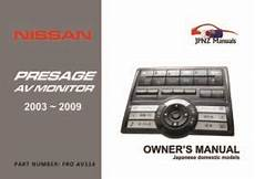 airbag deployment 2001 nissan sentra user handbook nissan caravan car owners user manual 2001 2012 e25