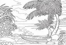Ausmalbilder Zum Ausdrucken Natur Ausmalbilder Natur Landschaft Wald Berge Meer Insel