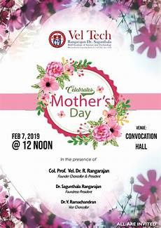 mothers day celebration 2019 vel tech rangarajan dr sagunthala r d institute of science and