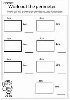work out the rectangle perimeter worksheet perimeter worksheets area perimeter area
