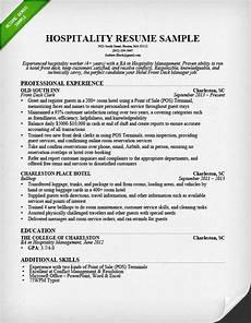 hospitality resume sle writing guide resume genius