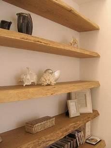 idee per mensole mensole libreria muro tavole di recupero in rovere casa
