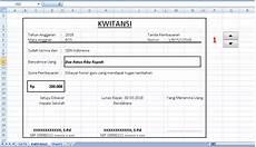 tutorial cara membuat kwitansi bos otomatis di excel