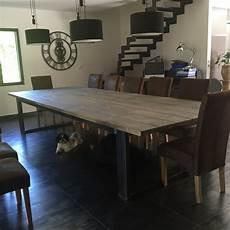 table salle a manger style industriel table de salle a manger de style industriel acier et bois