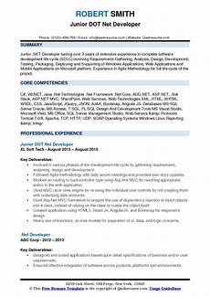 dot net developer resume sles qwikresume