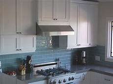Blue Glass Tile Kitchen Backsplash Grey Blue Kitchen Backsplash Home Subway Tile