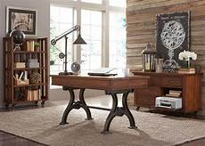home office furniture nyc arlington house writing desk cobblestone brown liberty