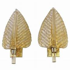 pair barovier and toso murano glass plume leaf wall sconces for sale at 1stdibs