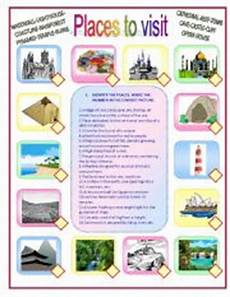 places to visit worksheets 16035 places to visit esl worksheet by orti