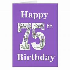 75th birthday cards 75th birthday card templates