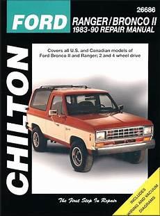 free auto repair manuals 1990 ford ranger electronic toll collection ford ranger bronco ii shop repair manual 1983 1990 chilton 26686