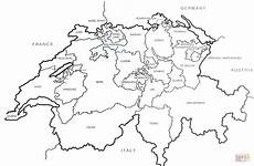 swiss outline map coloring page free printable coloring