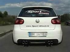 golf 5 gti sportauspuff www sport wheels de vw golf v gti eisenmann auspuff