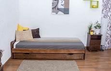 futonbett kiefer 90 x 200 cm nuss mit lattenrost