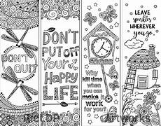 8 coloring bookmarks with quotes ricldp artworks
