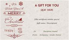 downloadable gift card templates gift certificate templates editable and