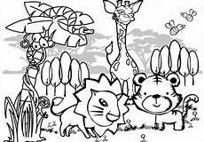 Ausmalbilder Verschiedene Tiere 8 Jungle Coloring Pages Pdf Png Free Premium Templates