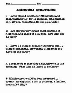 math worksheets elapsed time word problems 3411 telling time elapsed time word problems and volume worksheet tpt