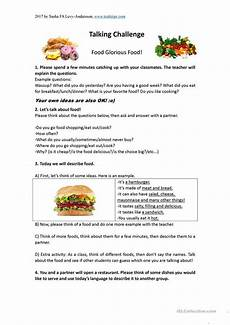 food lesson worksheets 19352 discussion lesson about food worksheet free esl printable worksheets made by teachers food