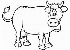 malvorlagen zum drucken ausmalbild kuh kostenlos 4