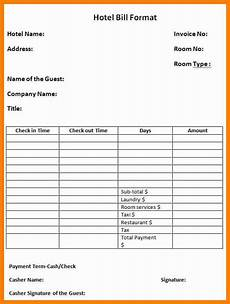 11 hotel bill format in word applicationleter com invoice format receipt template budget