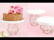 diy geometric gold cake stand bird s party youtube