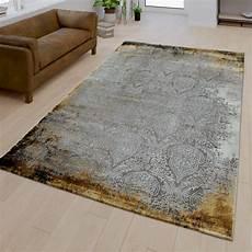teppich gelb grau kurzflor teppich orient muster vintage gelb teppichmax