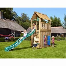 jungle holzspielturm cabin spielhaus mit rutsche