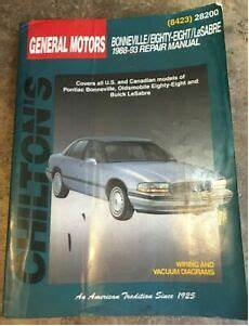 chilton car manuals free download 1993 oldsmobile 88 electronic valve timing chiltons general motors bonneville eighty eighty lesabre 1988 1993 repair manual ebay