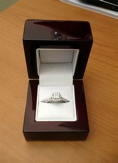 cherry wood off white leather engagement ring box great quality great price ebay