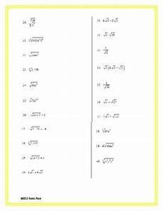 simplifying radicals practice worksheet by price tpt